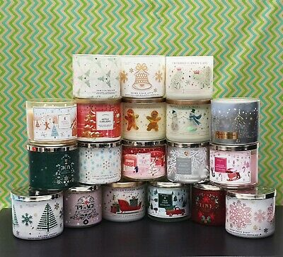 Bath And Body Works Large Scented 3-Wick Candles - New Various Collection 2021 • 22.99£