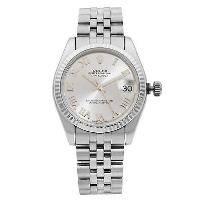 Rolex Datejust 31 Steel Jubilee Band Silver Dial Automatic Ladies Watch 178274 • 4,683.78£