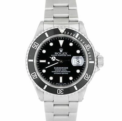 $ CDN10414.81 • Buy Rolex Submariner Date Stainless Steel Black Pre-Ceramic 40mm Dive Watch 16610