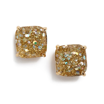 $ CDN31.77 • Buy KATE SPADE Mini Square Gold Glitter Stud Earrings NEW