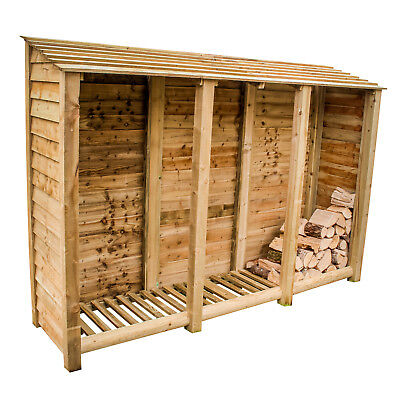 Log Store,Tall Extra Large Heavy Duty Pressure Treated • 339.99£