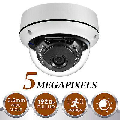4K 5.0MP UHD CCTV Dome Camera 1920P 4IN1 30M IR Night Vision In/Outdoor IP67 UK • 29.99£