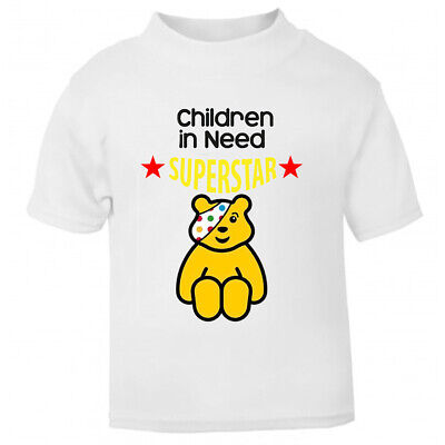 Children In Need 2020 Charity T-Shirt Unisex T-Shirts  Adults Pudsey Superstar • 12.99£