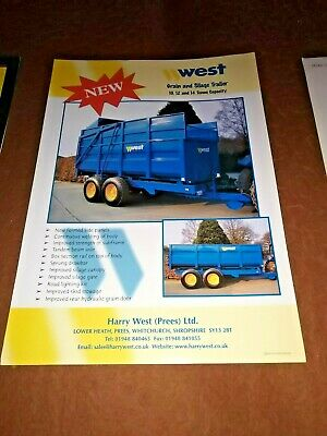 £7 • Buy West Grain And Silage Trailer Sale Brochure