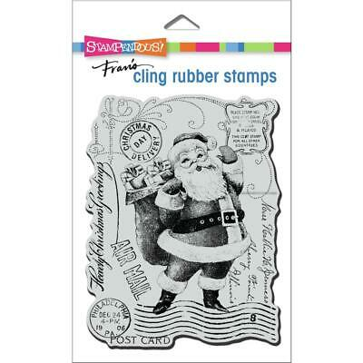 $8.95 • Buy Stampendous Cling Rubber Stamp Santa Post Holiday