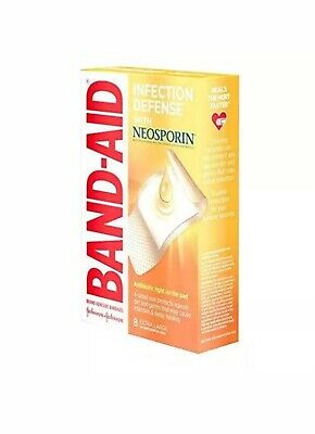 £2.90 • Buy Band-Aid Brand Bandages With Neosporin Antibiotic Ointment, Extra Large, 8 Ct