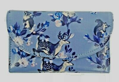 Cath Kidston Folded Curved Wallet Badgers And Friends Grey Blue Colour  • 19.90£