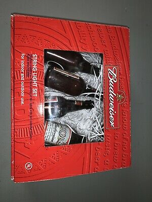 $ CDN23.50 • Buy New Budweiser String Light Set Party Lights Bud Bottle.  Authentic AB Item. 12'