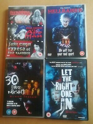 4 X Horror Dvds 3 Classic Horrors, Hellraiser, Let The Right One In, 30 Days Of. • 2.99£