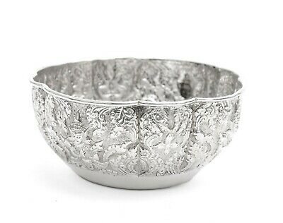 £165 • Buy Antique Indian Lucknow Silver Offering Bowl With Hindu Deities C1890