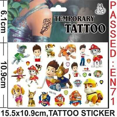 Paw Patrol Kids Gift Temporary Art Tattoo Sticker  • 1.85£