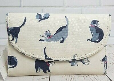 Cath Kidston Folded Curved Wallet  Painted Cats Design Cream Colour New With Tag • 22.90£
