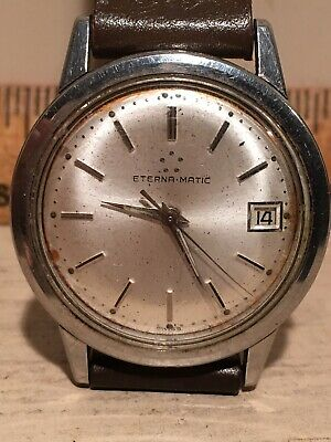 $ CDN99.99 • Buy Vintage ETERNA - MATIC Automatic Men's Swiss Stainless Watch Parts Or Repair