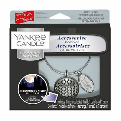 Refillable Yankee Candle Charming Scents Car Fragrance Metal Locket • 8.99£