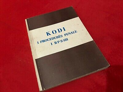$ CDN100.22 • Buy Albania Book Kodi I Procedures Penale Albanian Laws 1979 Penal Criminal Code