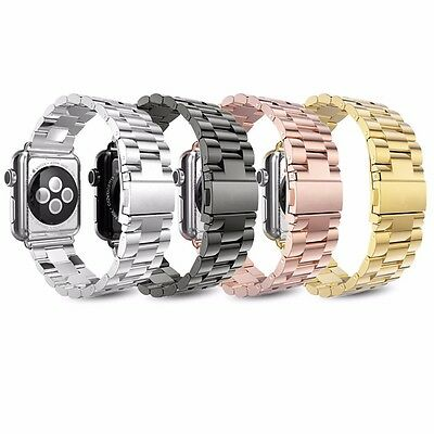 $11.99 • Buy Metal Strap For Apple Watch Series 6 5 4 3 2 38-44mm Stainless Steel IWatch Band