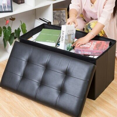 2 Seater Folding Ottoman Storage Box Bedroom Living Room Footstool Chest Bench • 20.99£