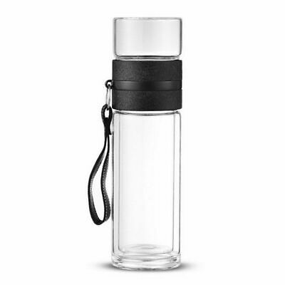 Water Bottle Outdoor Travel Tumbler 1pc Glass Tea With Infuser Double Portable • 21.41£