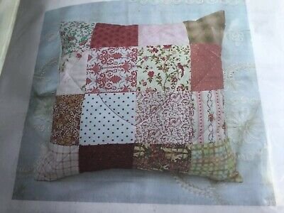 Patchwork Cushion Sewing Kit With Wadding Finished Cushion 18 X18 Inches  • 3.50£