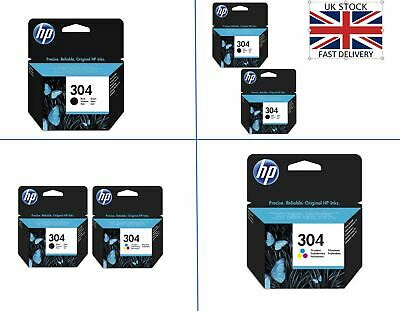 HP 304 Black And Colour Ink Cartridges For DeskJet 2600 All In One Printers • 21.99£