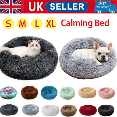 2020 Warm Comfy Calming Dog/Cat Bed Round Super Soft Plush Pet Beds Marshmallow • 12.99£