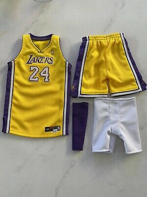 $99 • Buy Lakers Kobe Bryant 1/6 Jersey Set Handmade Embroidered For Enterbay
