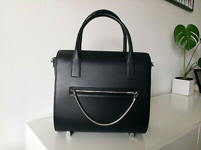 AU899 • Buy Alexander Wang Chastity Large Satchel Black Leather W/ Dust Bag & Strap RRP$1485