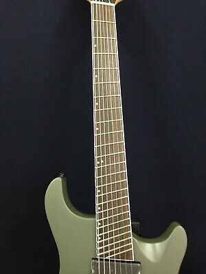 AU450 • Buy Haze-7FF MGS Fanned-Fret,7-String Electric Guitar,Satin Military Green+Free Bag