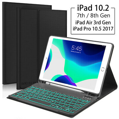 AU43.99 • Buy IPad 10.2 7th 8th Gen Bluetooth Keyboard Stand Cover Smart Case With Pen Holder