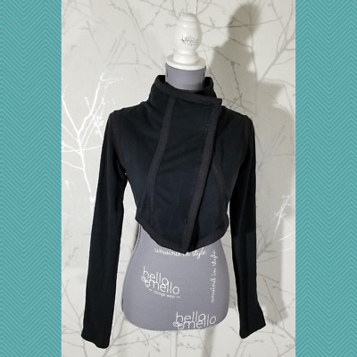 $ CDN50 • Buy Lululemon Black French Terry Full Zip Purity Cropped Jacket | Women's 4