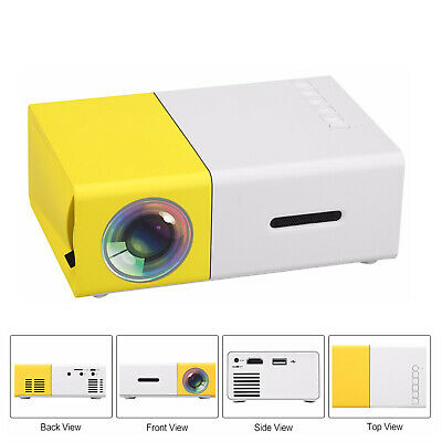 AU60.99 • Buy YG-300 Mini Cinema Portable Projector 1080P Pocket HDMI USB AV Home Media AU