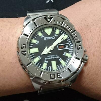 $ CDN614.04 • Buy SEIKO AUTOMATIC DIVER'S 200m Black Monster 7S26-0350 18.5*19cm Analog Watch USED
