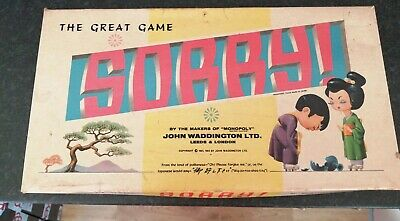 THE GREAT GAME SORRY! Oriental Version Vintage 1963 Board Game Waddingtons 1963  • 24.99£