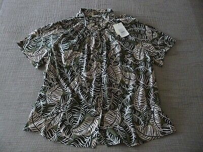 NWT COUNTRY ROAD  Abstract Tropical Print  S/Sleeve Shirt - Size 16 Aus 14/16UK • 34.50£