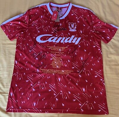 Liverpool Fc Rare Multi Signed Liverpool 9 Crystal Palace 0 Retro Home Shirt • 149£