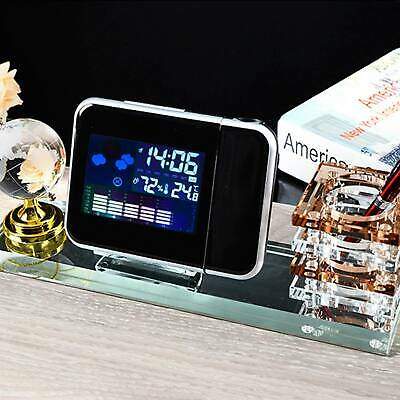 Digital Projection LED Alarm Clock With Temperature Weather Station LCD Display • 7.29£