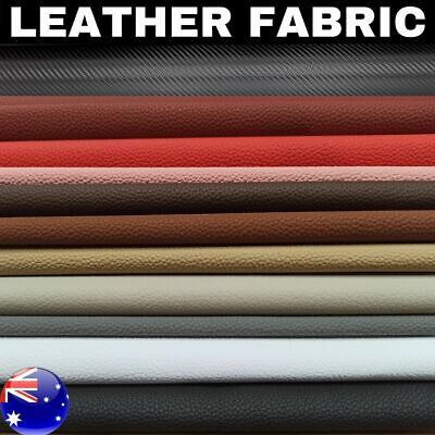 AU18.99 • Buy Faux Leather Fabric Auto Upholstery Marine PVC Vinyl Synthetic Furniture Crafts