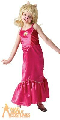Kids Girls Muppets Miss Piggy Costume Childs World Book Day Fancy Dress Outfit • 7.49£