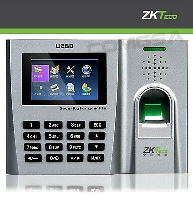 AU290.44 • Buy Zkteco U260 Fingerprint Biometric Time Clock, Support Of Cards And Codecs, Zk