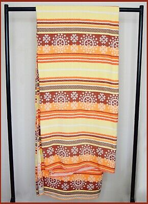 Mexican Bedspread Wall Hanging Blanket Tapestry Orange Yellow 234 Cm X 193 Cm L • 39.99£