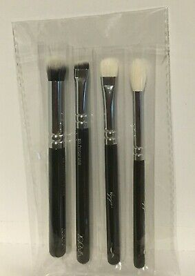 AU19.65 • Buy Zoeva Voyager Travel Eye Concealer Brow Line 4 Pcs Mini Brushes Set New