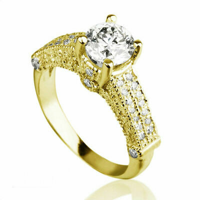 $ CDN3233.66 • Buy 2 Carat Round Brilliant & Accents Diamond 18k White Gold Engagement Ladies Ring