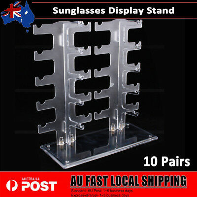 AU21.89 • Buy 10 Pairs Clear Sunglasses Glasses Rack Holder Frame Display Stand Organizer AU
