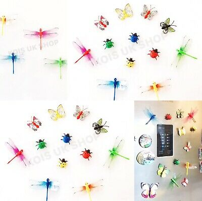 £2.99 • Buy Fridge Magnet Dragonfly Ladybird Butterfly  Decoration Home Kitchen White Board