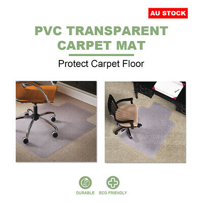 AU38.89 • Buy Carpet Floor Chair Mat Office Chairmat Vinyl Plastic Protector Wood 120x90cm AU