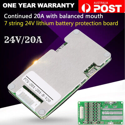 AU11.09 • Buy 24V 20A 7S Lithium Li-ion LiFePO4 Battery BMS Protection Board Cell AU Stock