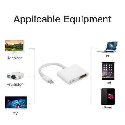8Pin To Digital AV Adapter For IPhone IPad To HDMI 1080P TV Connector Cord  • 6.51£
