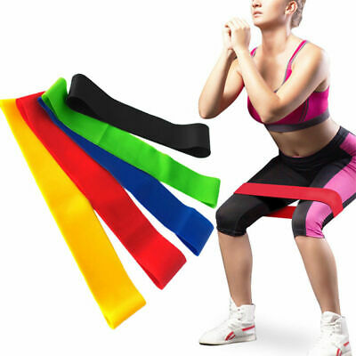 AU14.95 • Buy 5 Set Resistance Bands Workout Fitness Gym Equipment Rubber Loops Latex Yoga AUS