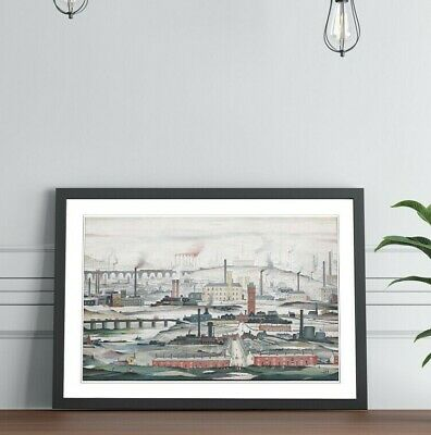 £14.99 • Buy Industrial Landscape People FRAMED WALL ART PRINT PAINTING 4 SIZE LS Lowry Style