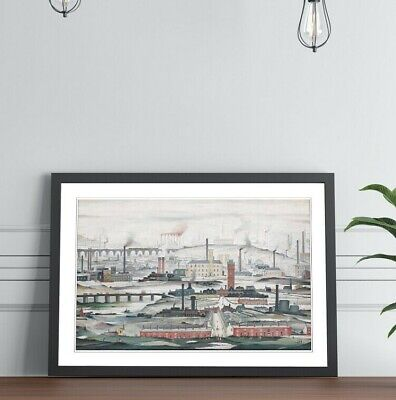 LS Lowry Industrial Landscape People FRAMED WALL ART PRINT PAINTING 4 SIZES • 14.99£